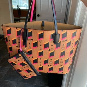 MCM Pink Diamond limited edition tote and wallet